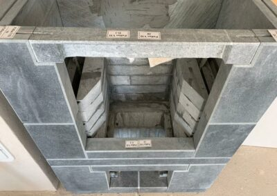 A look into the construction of the Pallas model talc fireplace