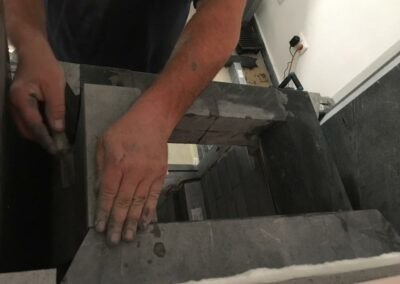 Installation of talc stoves Akustone