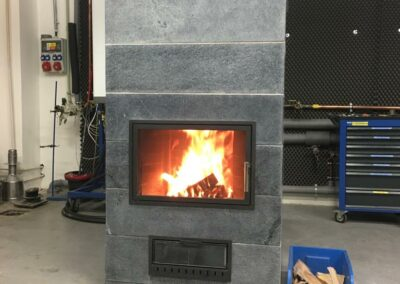 The first heating in the prototype of the stove Fx - autumn 2019